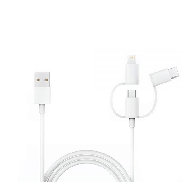 Кабель Xiaomi 3 в 1 Micro USB + TypeC + Lighthing 1m